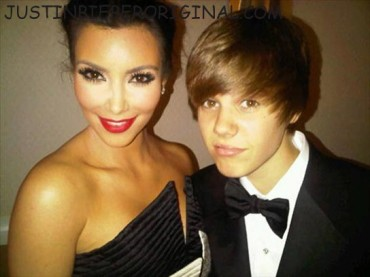 100410 justin bieber kim kardashian1 Justin Bieber's Babes Of 2010: Which One Does He Belong With? See Pics